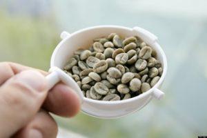 grano de café verde
