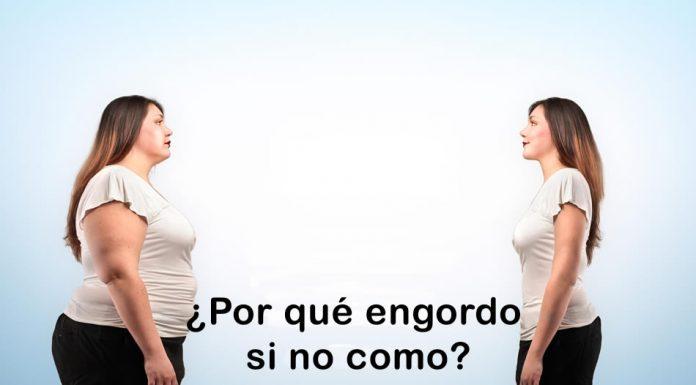 Por qué engordo si no como