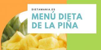 Menú dieta de la piña 5 días