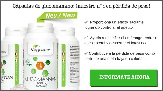 Saciante natural: Glucomanano Vegavero