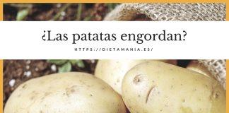 Las patatas engordan