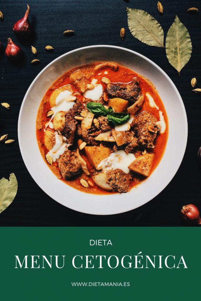 menu para realizar la dieta keto
